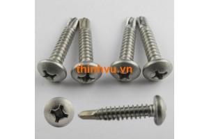 Vít tự khoan đầu tròn INOX SUS 410 - 304
